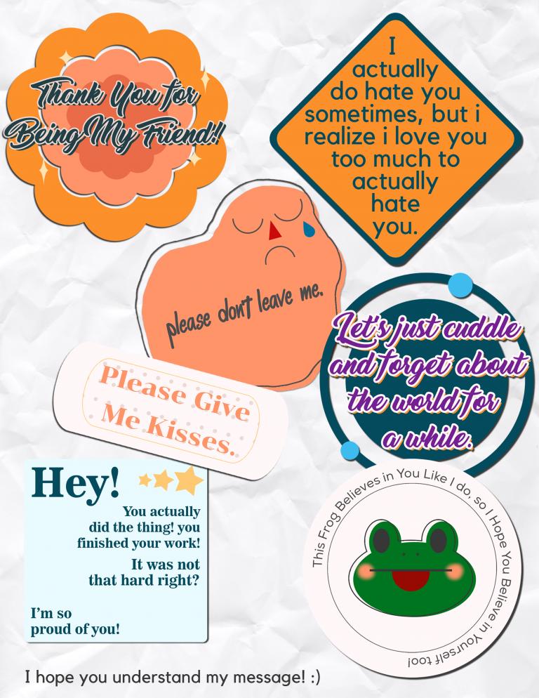 Dini_Sticker Letter_Graphic Arts - dini fauzia